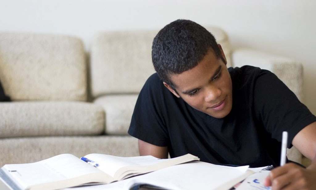 Teen Doing Homework