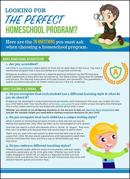 , Choosing a Homeschool Program