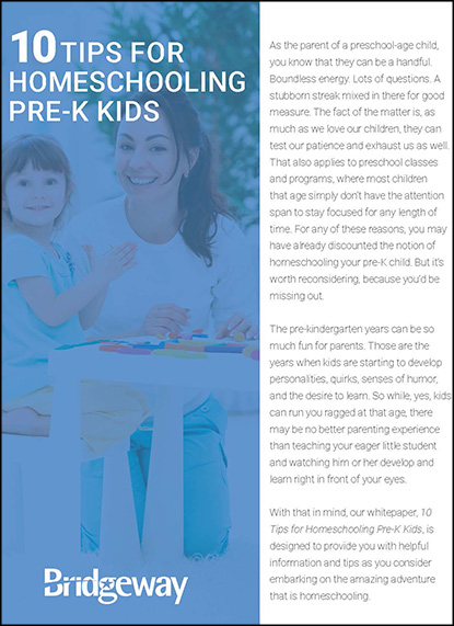 , 10 Tips for Homeschooling Pre-K Kids